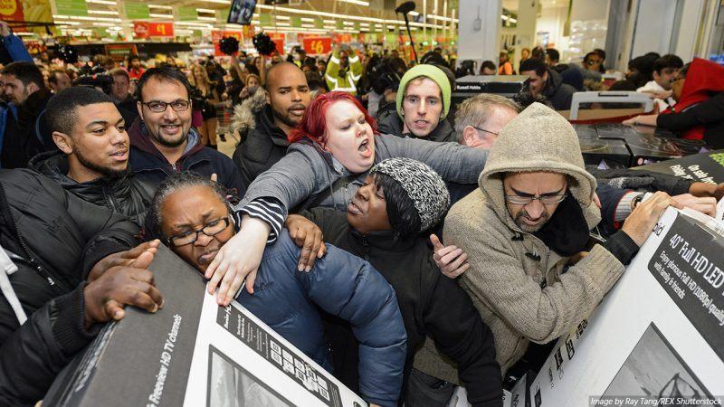 black friday crazy mobs best buy amazon ebay