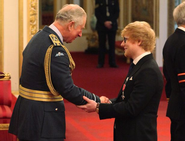 ed sheeran touches prince charles arm breaching buckingham palace protocol