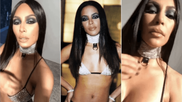 kim kardashian offends with aaliyah halloween costume
