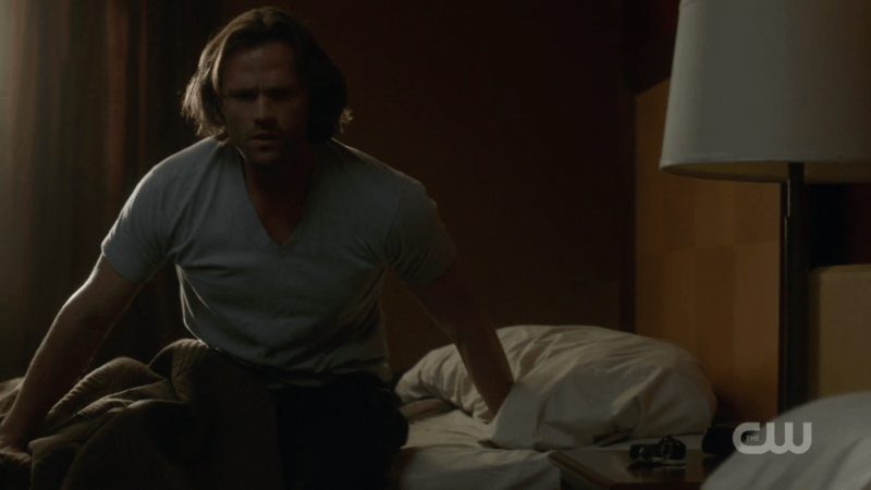 supernatural sam winchester getting out of bed 1305