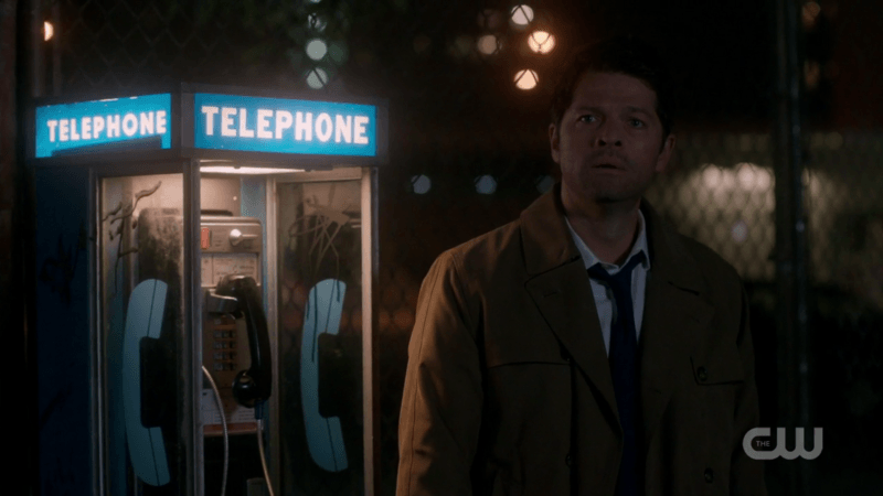 castiel dean winchester telephone supernatural booth