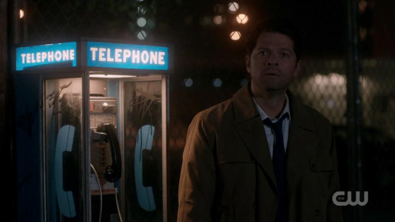 castiel dean winchester telephone supernatural booth