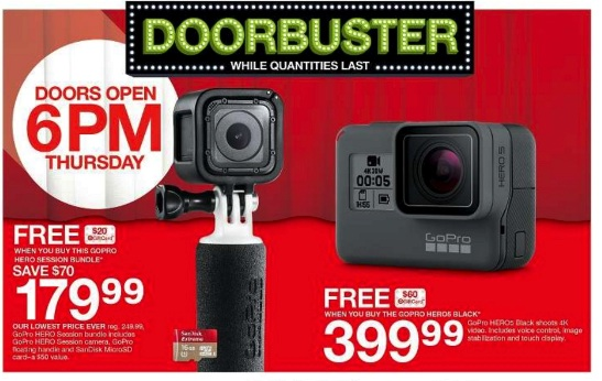 gopro hero 5 black target black friday deals 2017