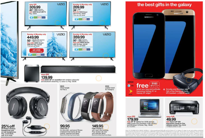 target 2017 cyber monday tv headphone devices hot deals