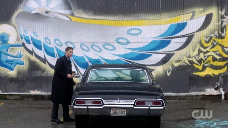 supernatural dean winchester with baby and big mural 1309