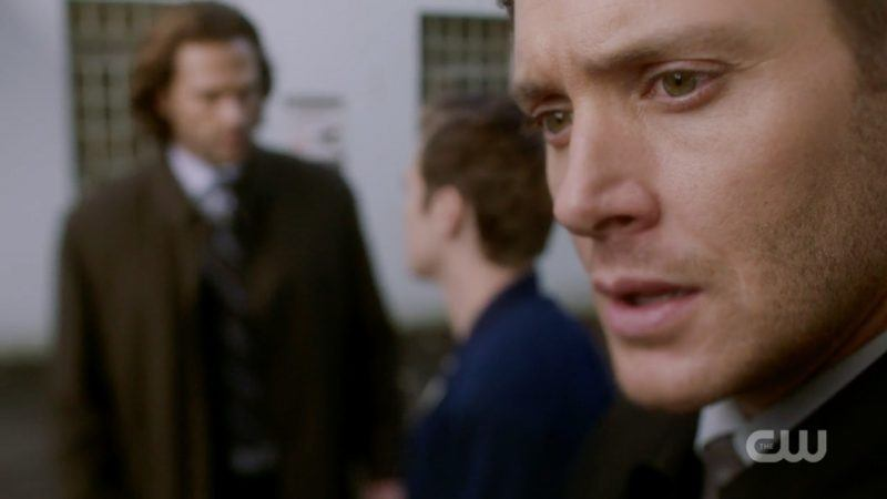 dean winchester reacts as jack touches sam bad place supernatural 1309