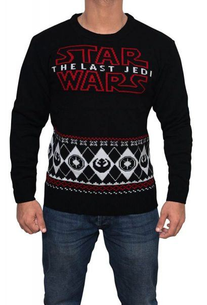 star wars last jedi sweater hot holiday geek gift 2017